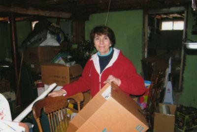 Joan Organizing Mess